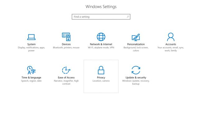 Windows 10 Setting